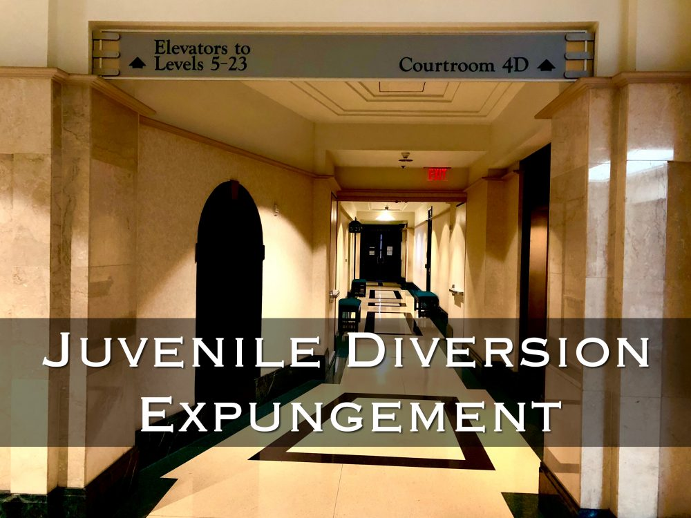 juvenile diversion expungement