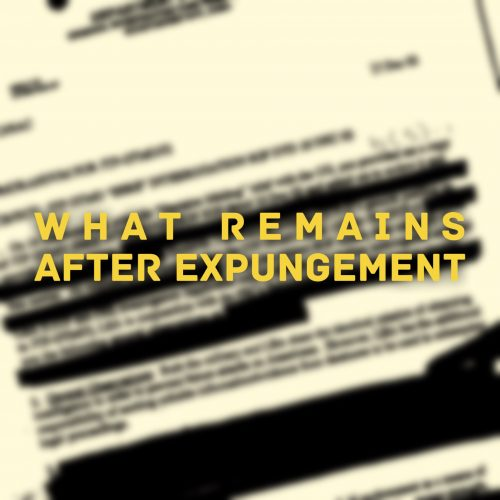 what remains after expungement