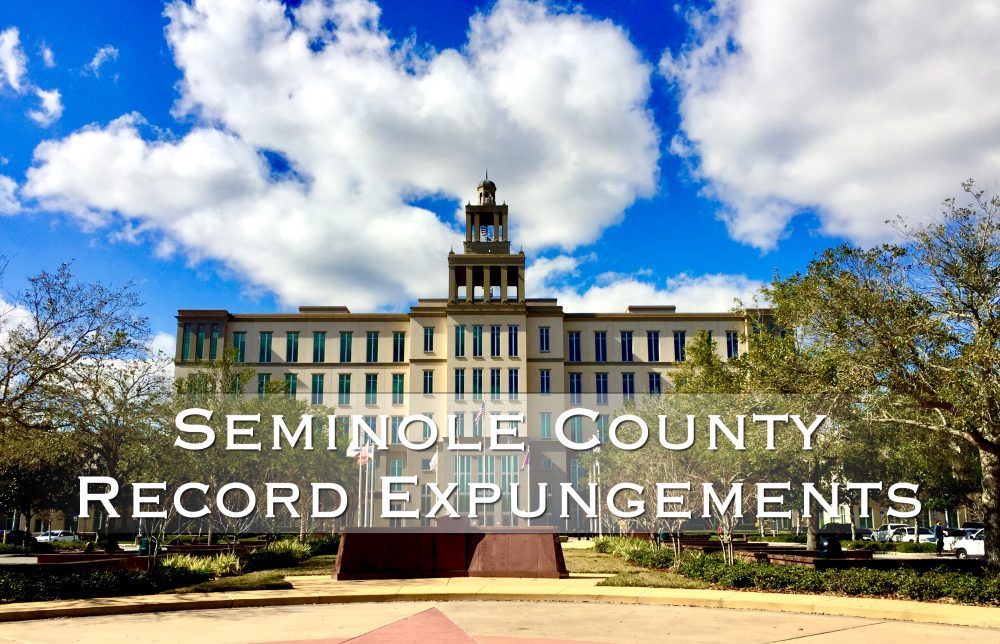Seminole County Expunge record
