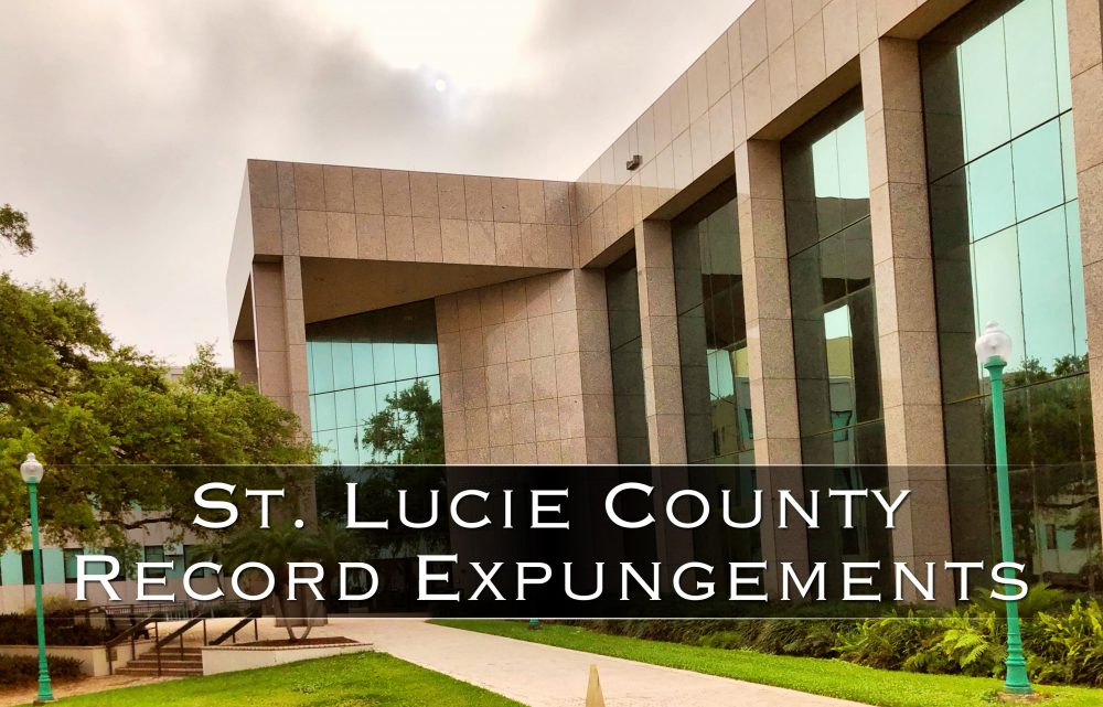 St Lucie County Record Expungements
