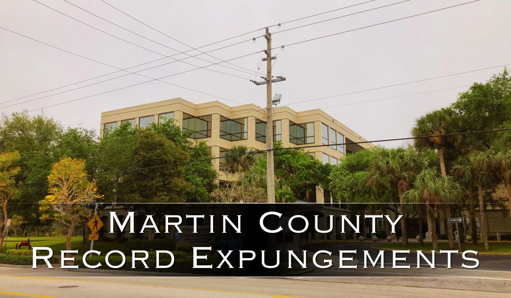martin county record expungements