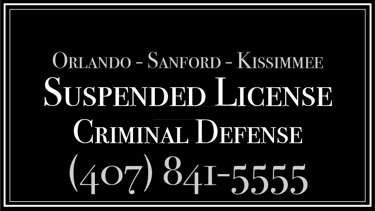 Suspended license criminal defense