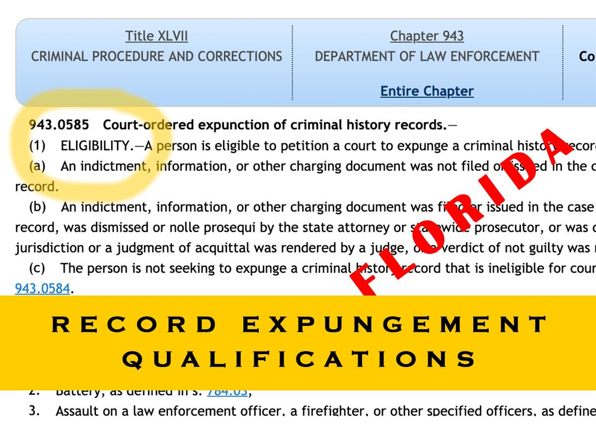 record expungement qualifications