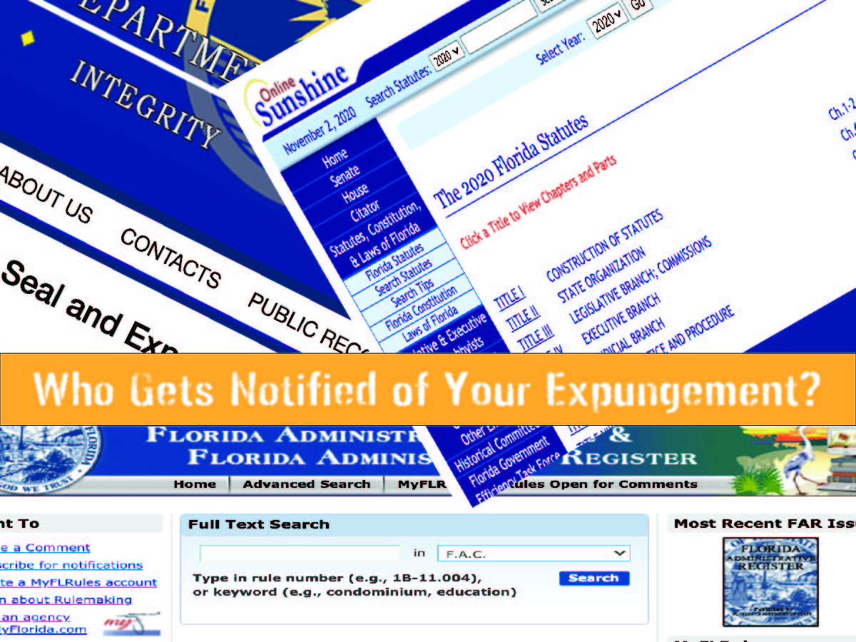 Who Gets Notified of Your Expungement