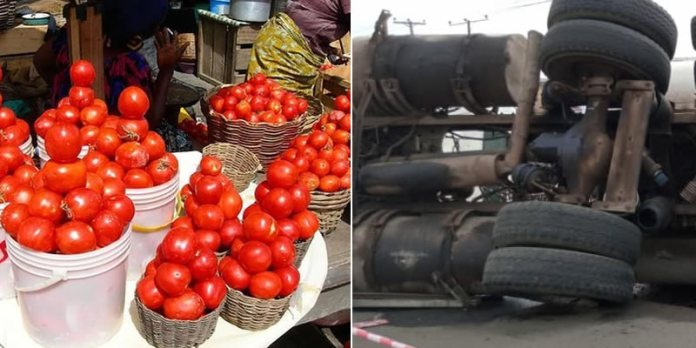 Tragic As Truck Crushes 3 Children Of Tomatoes Seller In Lagos