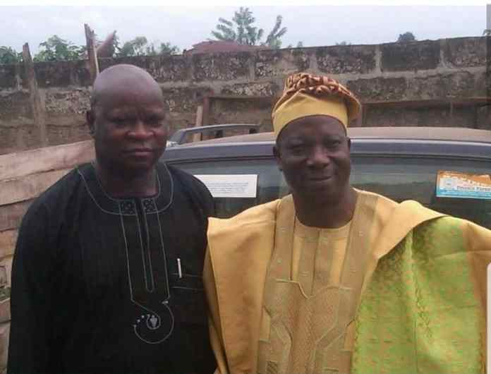 Mr Paul Omotosho(Gboyin Local government Chairman) and Prince Olatunji Olatunde