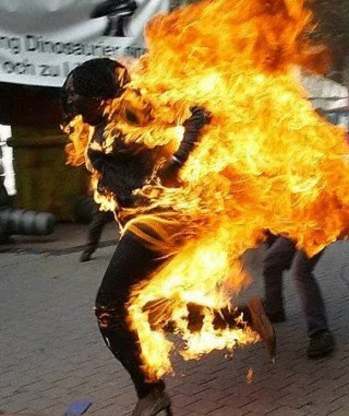 See why Brother Sets Pregnant Sister On Fire In Lagos