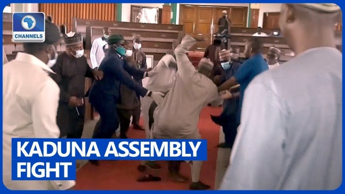 VIDEO: Kaduna State Lawmakers Exchange Blows As Deputy Speaker Impeached