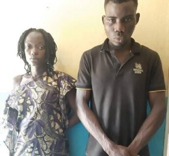 Man and wife arrested for inserting a bottle into his ex-girlfriend's vagina