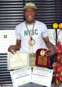 UNIBEN Graduate who wrote O'level Exams 17 Times Completes NYSC with Multiple Awards