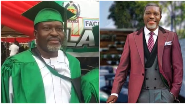 58-year-old Kanayo O. Kanayo aces law school exams, becomes a barrister - Congratulations are in order for actor Kanayo O. Kanayo who has just become a full-fledged barrister - The veteran actor shared the news that he passed his law school examinations on his IG page - Fans and colleagues have showered an out-pour of congratulatory messages on the movie star At age 58, veteran Nigerian actor Kanayo O. Kanayo has proven to his fans that everything is achievable once a person is filled with dedication and a burning passion to achieve his/her desires. The celebrated movie veteran has just become the latest full-fledged barrister that will be joining the justice system just after passing his law school examinations. Kanayo recently took to his official page on photo-sharing app to partially give those following him a hint into his latest achievement. The movie star simply shared a screenshot of a report noting that he has passed his law school exams. 58-year-old actor Kanayo O. Kanayo becomes a barrister after passing law school exams 58-year-old actor Kanayo O. Kanayo. Photo: Instagram/@kanayo.o.kanayo Source: Instagram In the caption, he said:
