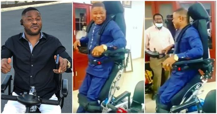 Yinka Ayefele 23 Years Since He Was Crippled After A Car Accident Stands On His Feet For The First Time