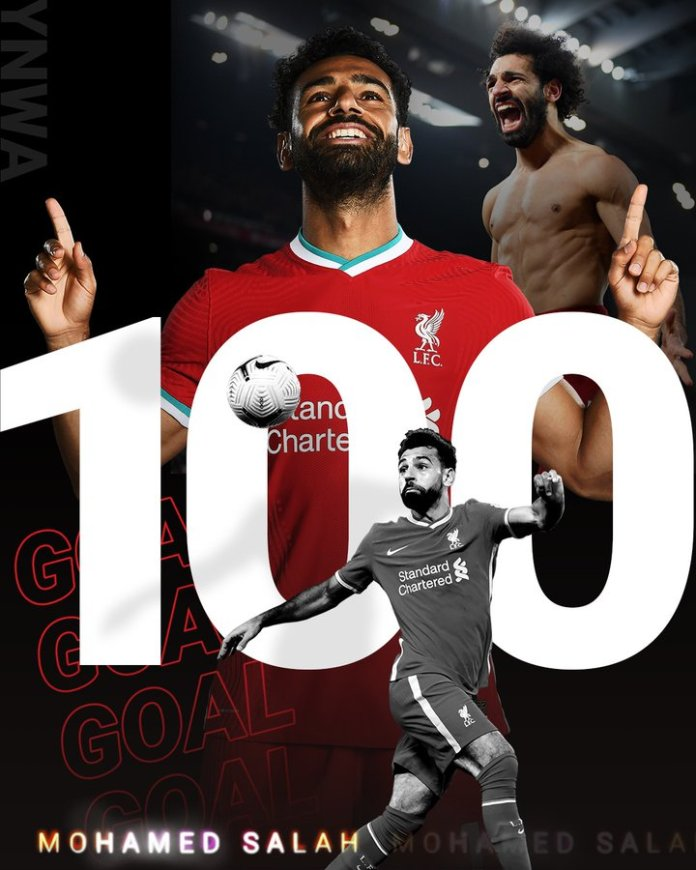 Liverpool Fc Mohamed Salah joins Liverpool's 100-goal club