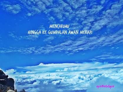 #10. Awan di atas dari puncak Garuda Gunung Merapi (doc pribadi)