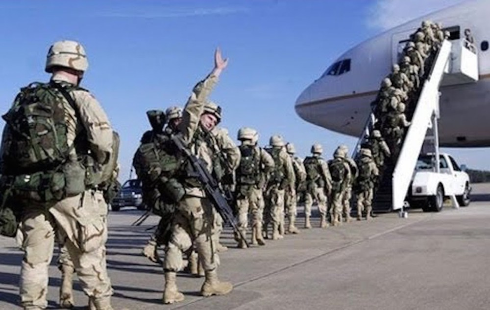 Image result for photos troops leaving syria