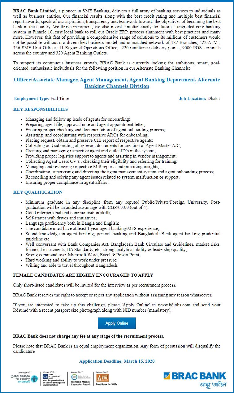 BRAC Bank Limited jobs 1