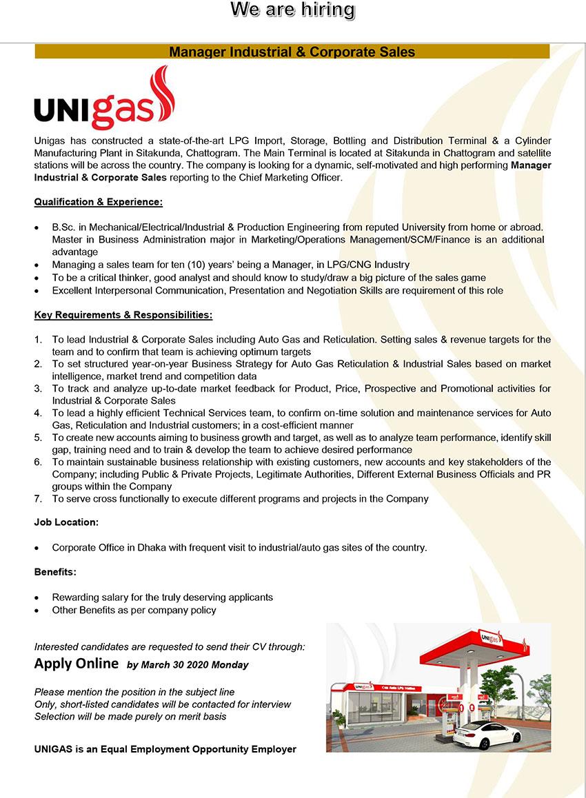 UNIGAS Job Circular