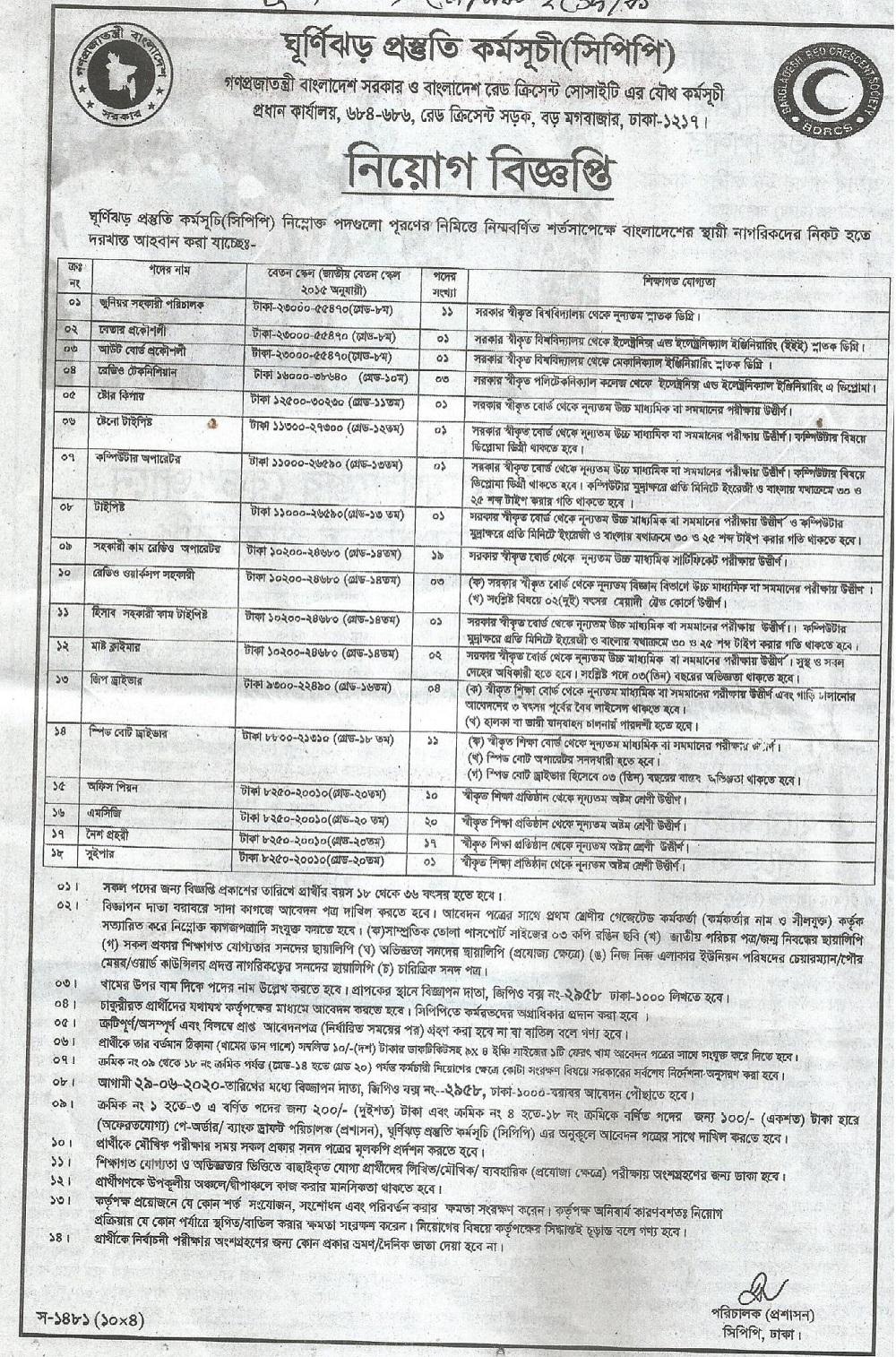 Cyclone Preparedness Programme CPP Job Circular Apply