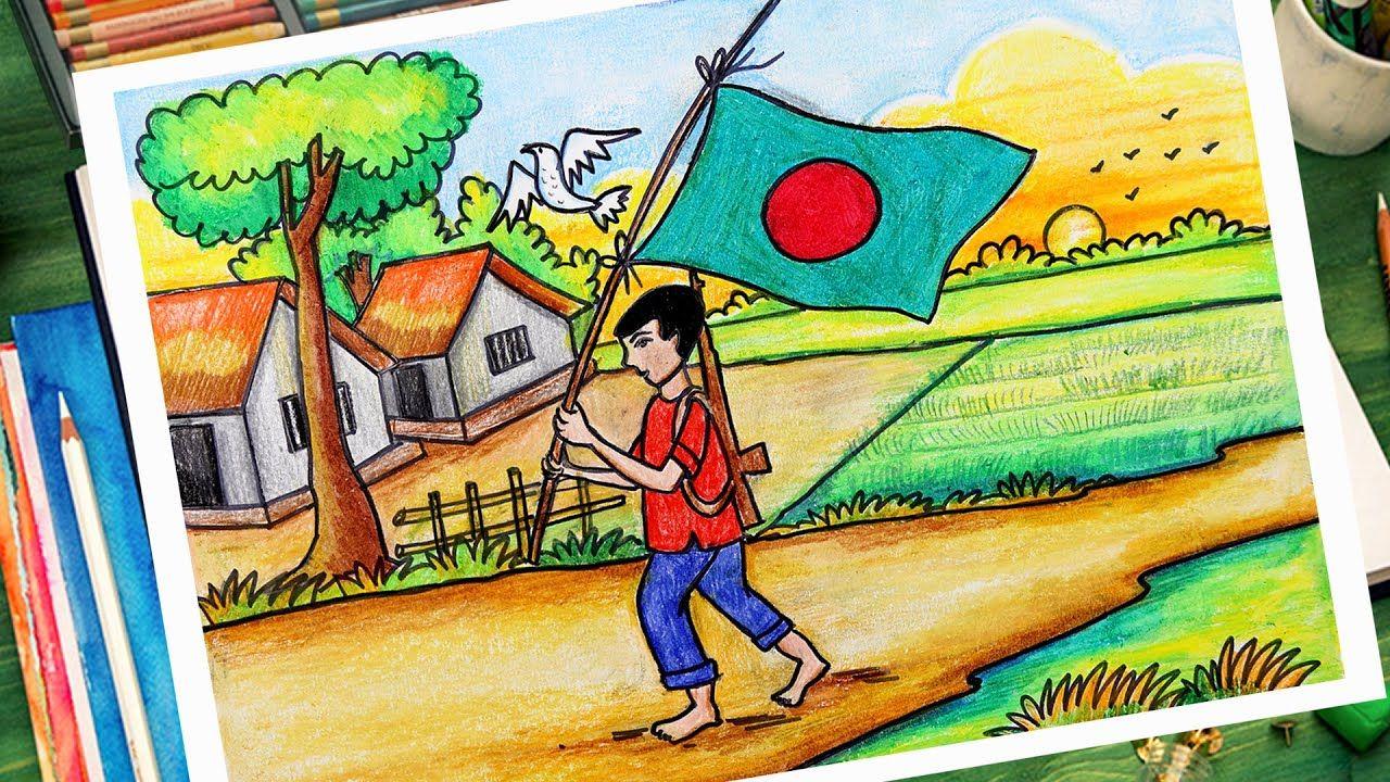 Bijoy Dibosh Drowing Picture 10