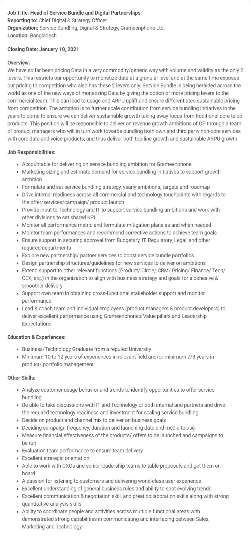 grameenphone-job-circular-2020