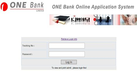One Bank Limited Admit Card
