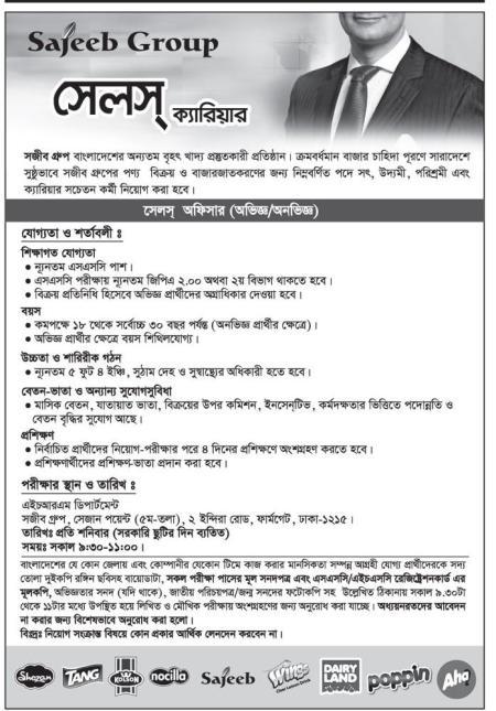 Sajeeb Group Jobs