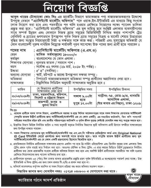 Abul Khair Tobacco Ltd Job Circular