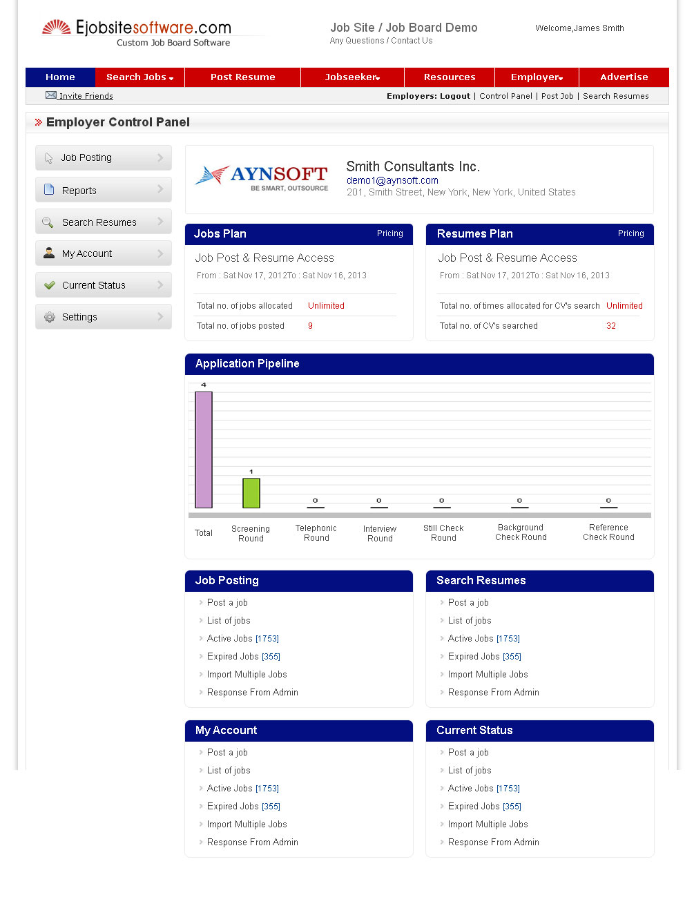 Applicant Tracking Software