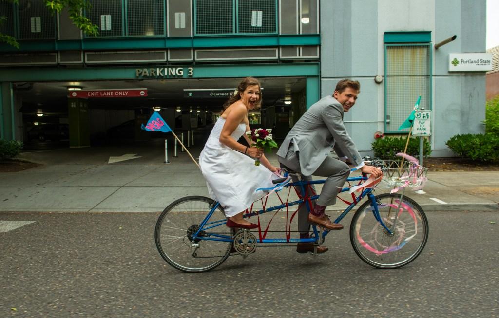 portland bike friendly wedding planner