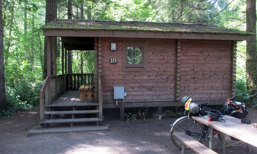 Rustic cabin at Silver Falls. Photo: Shawn Granton
