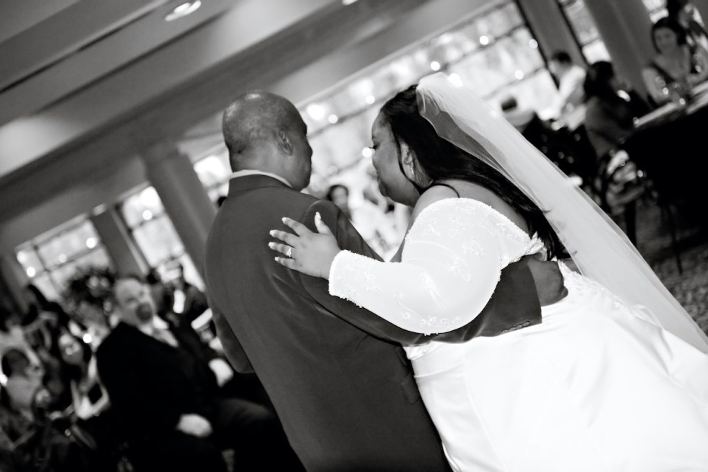 bride dancing with her father on wedding day