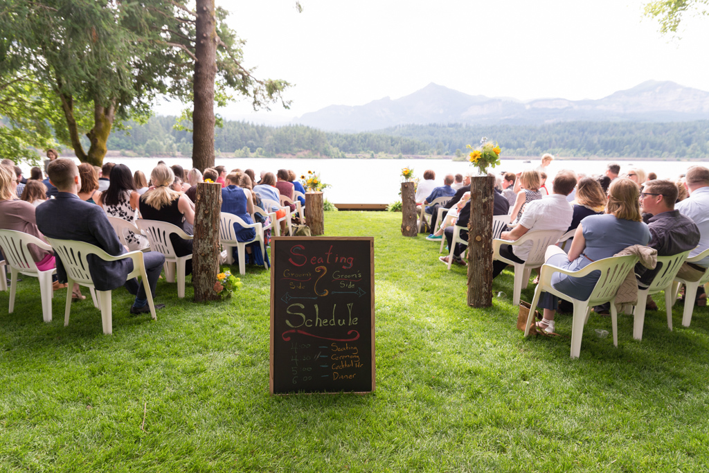 wedding aisle with sign