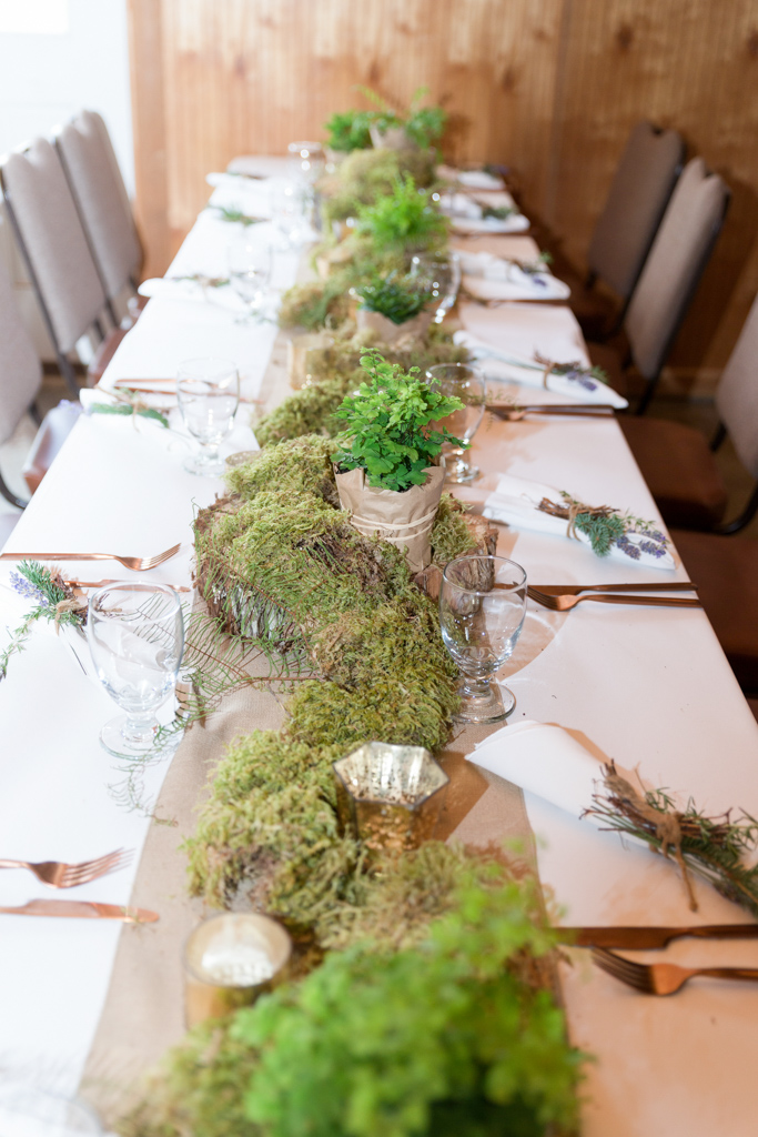 Mossy Wedding Arrangements
