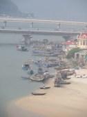 Fishing boats on Lang Co beach