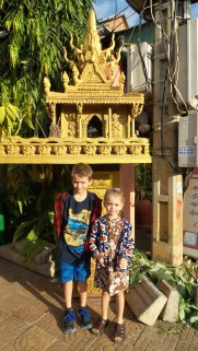 """""""Spirit houses"""" are everywhere--the kids call them """"mini temples"""""""