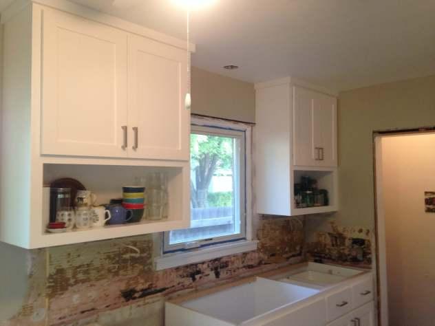 New Upper Kitchen Cabinets
