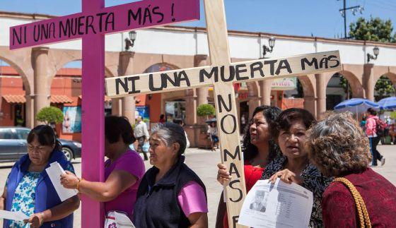 Una manifestación en Tultitlán por las víctimas.