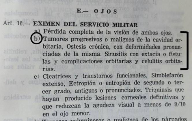 García Linera fue eximido del servicio militar por una supuesta enfermedad ocular grave