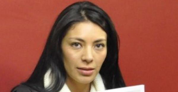La exdiputada Paola Zapata Montaño, hermana de la expareja del presidente Evo Morales, Gabriela Zapata Montaño
