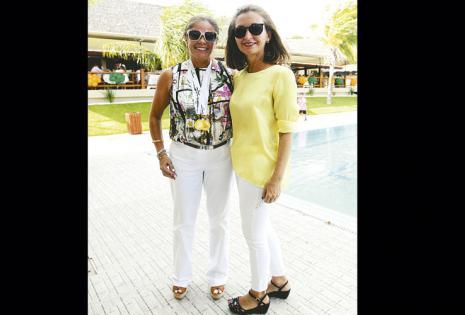 REENCUENTRO. Rosario Pauker (ganadora de medallas por destacarse en tenis) y Anita Arze