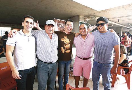 Emilio Tarradelles, Emilio Nagamine, Chichi Kim, Percy Cuéllar Jr. Y David Sandóval