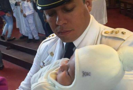 Pablo Javier Montero, el papá, se derritió por su pequeño bombón