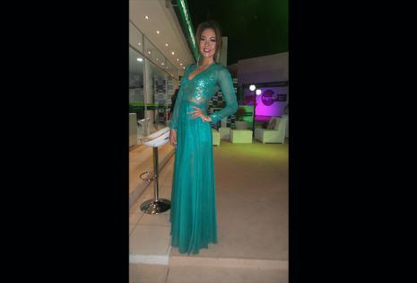 Adriana Delgadillo (Banco Ganadero) este traje verde le sentó muy bien