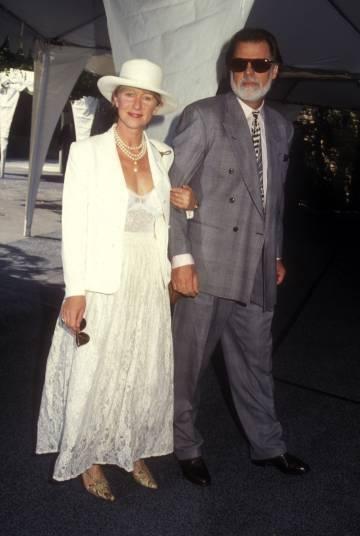 Helen Mirren y su marido, Taylor Kackford, en Los Ángeles en 1993.