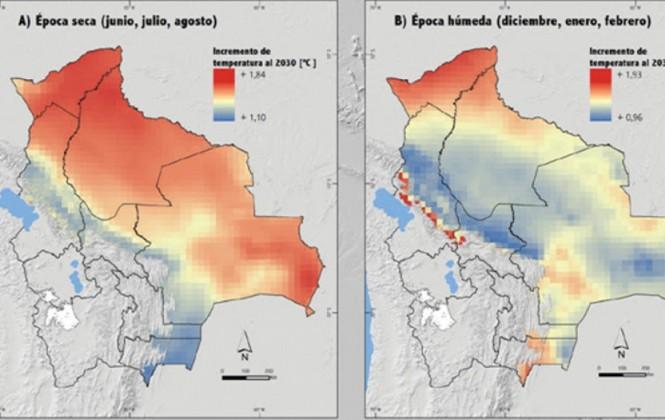 Estudio prevé aumento de la temperatura de 2 ºC hasta el 2030 en Tierras Bajas y Los Yungas