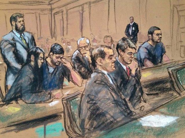 Efrain Antonio Campo Flores y Franqui Francisco Flores de Freitas durante la audiencia el 17 de diciembre 2015 (Reuters)