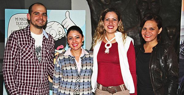 Gianclaudio Palazzolo, Daniela Oroza, Lorena Soliz y Éricka Vargas aplaudieron los acordes de la Orquesta Sinfónica Municipal
