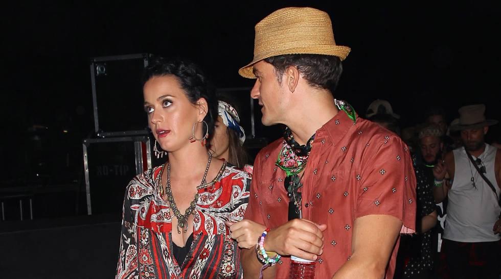 Katy Perry y Orlando Bloom el pasado abril.