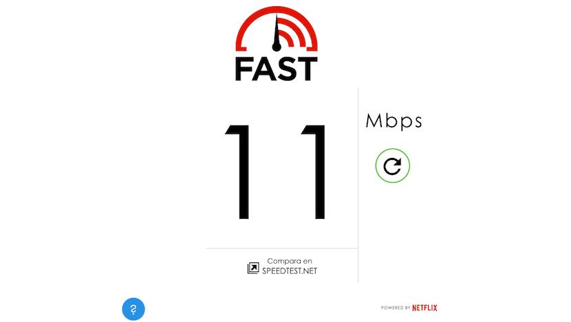 resultado Fast.com