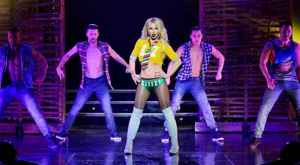 Britney Spears, durante su show en el Hotel Planet Hollywood de Las Vegas.
